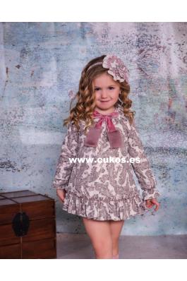 Vestido de niña con estampado cachemir