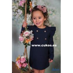 Vestido de niña en azul marino