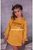 Vestido de niña mostaza