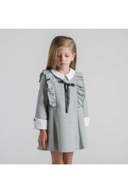 Vestido niña gris
