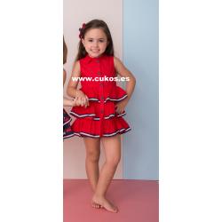 Vestido de niña rojo