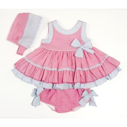 Vestido de bebé en fuxia