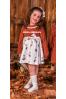 Vestido de niña con estampado de zorritos