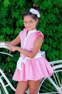 Vestido de niña en rosa fucsia