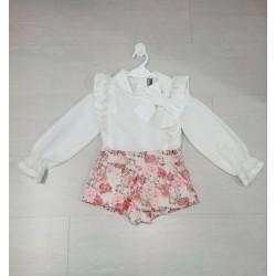 Conjunto de niña con pantalón de flores