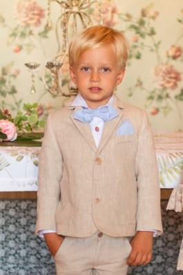 Americana de niño en lino