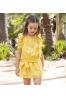 Vestido de niña en plumeti amarillo