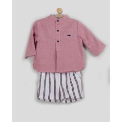 Conjunto de bebé con pantalón de rayas