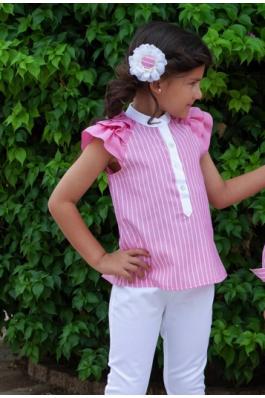 Conjunto de niña de blusa y pantalón
