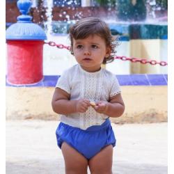Conjunto de bebé con ranita en azulón