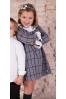 Vestido de niña gris