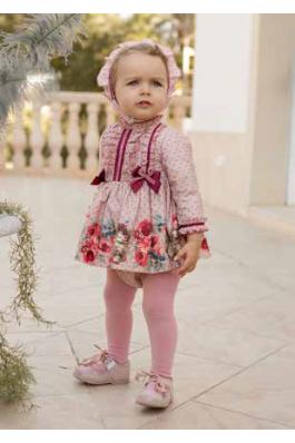 Vestido rosa con flores