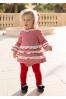 Vestido de pata de gallo rojo