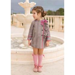 Vestido con detalles en rosa