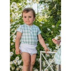 Conjunto de bebé niño verde agua