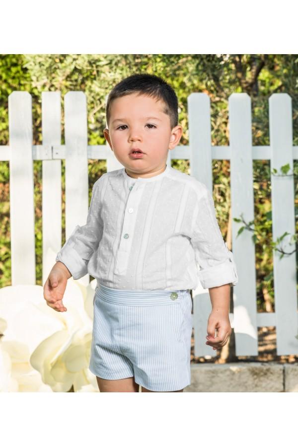Conjunto de bebé azul y blanco