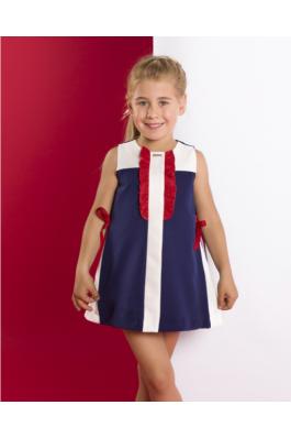Vestido de niña marinero en punto