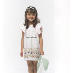Vestido de niña con estampado de flores