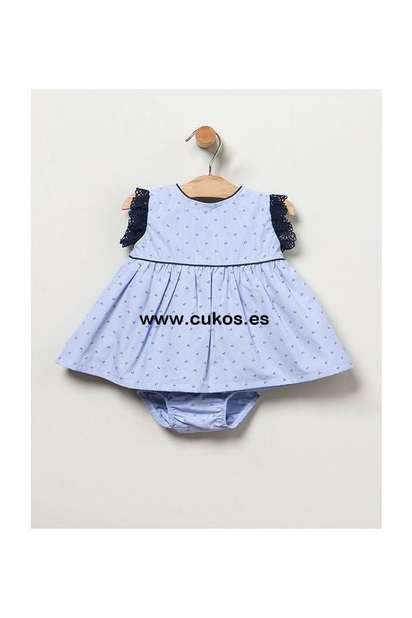 Vestido de bebé con anclas