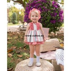 Vestido de bebé de rayas