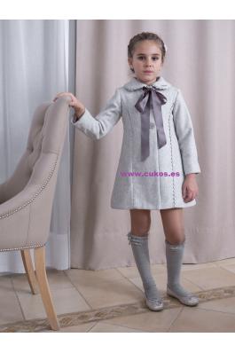 Abrigo de niña gris