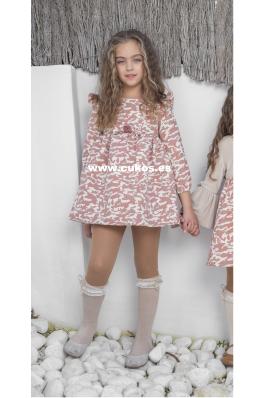 Vestido de niña con estampado de camuflaje