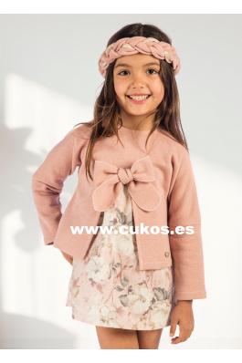 Vestido de niña estampado rosa