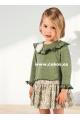 Vestido de niña con estampado verde