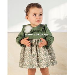 Vestido de bebé con estampado verde
