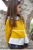 Conjunto de niña en mostaza