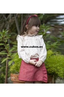 Conjunto de niña de blusa y short